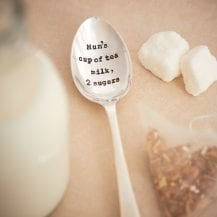 Personalised mothers day silver plated vintage tea spoon
