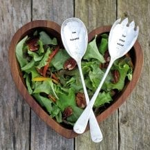 Salad Server - eat your salad bon appetit salad servers