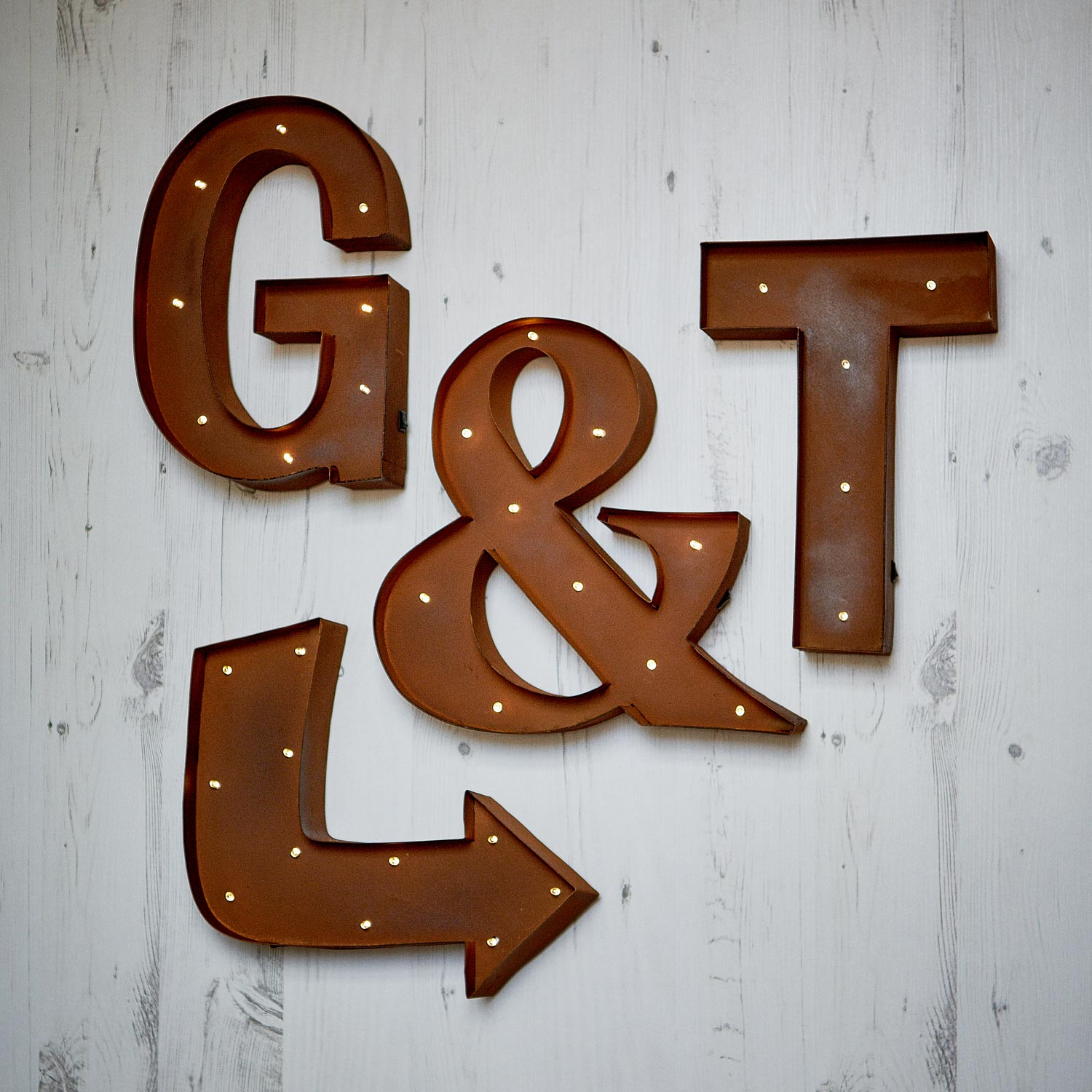 Metal Wall Light Letters : Carnival Wall Light Up Letters